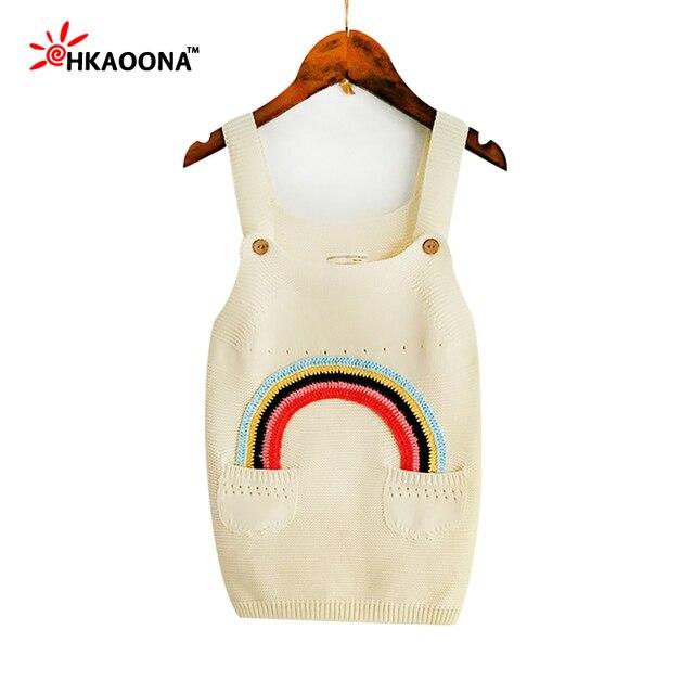 HAKOONA Suéter de Algodón Niñas Correa Crochet Vestido Del Patrón ...