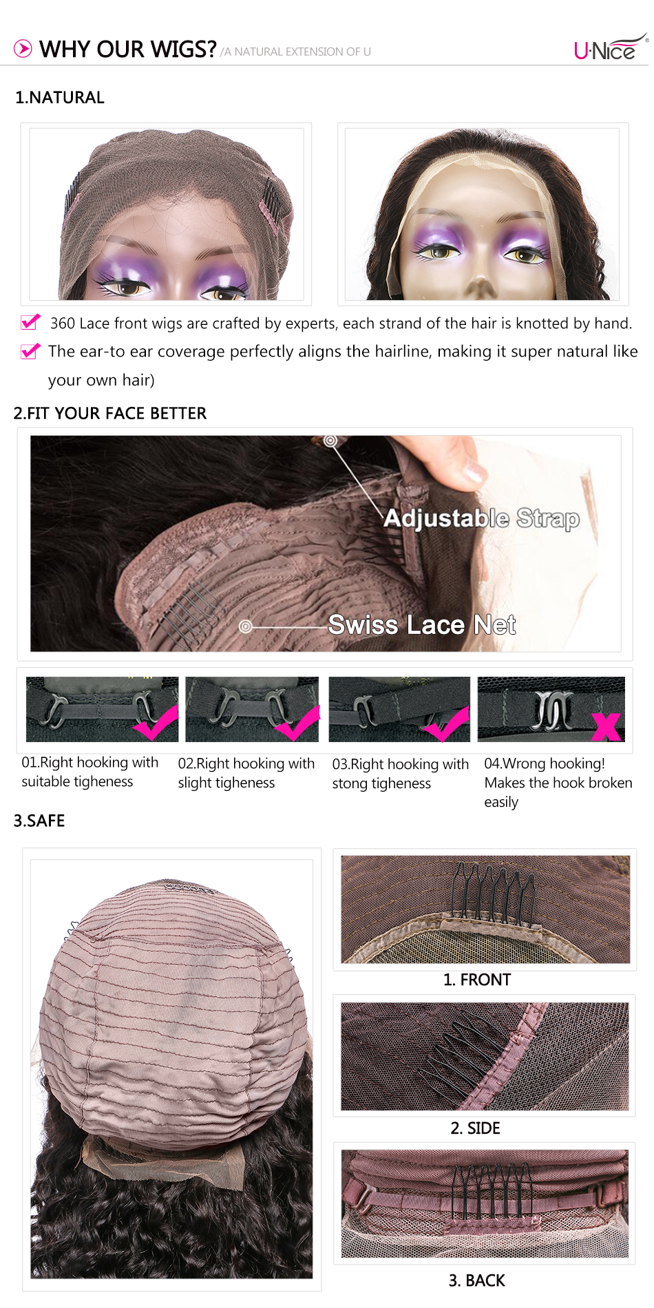 """HTB185O7XiYrK1Rjy0Fdq6ACvVXae Unice Hair 360 Lace Frontal Wig Brazilian Remy Body Wave Wigs 10-26"""" Human Hair Wigs For Black Women Pre Plucked With Baby Hair"""