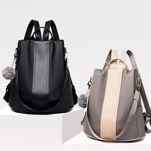 Waterproof Casual Women Backpack Purse Anti-theft Rucksack M