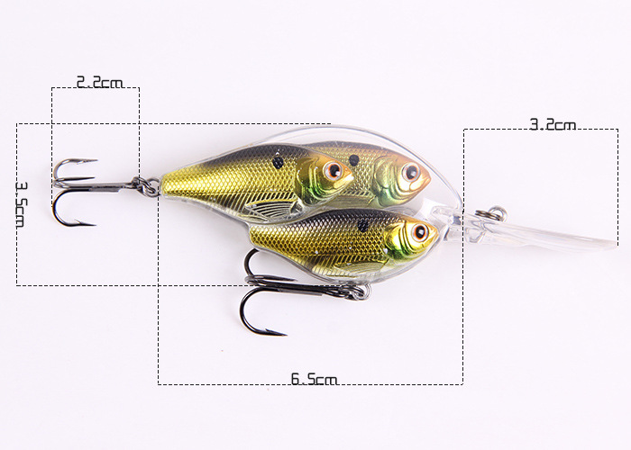 Hot New Design 3pcs together <font><b>fishing</b></font> <font><b>lure</b></font> <font><b>fishing</b></font> tackle <font><b>Random</b></font> color <font><b>Minnow</b></font> <font><b>lure</b></font> Crank <font><b>Lures</b></font> Mix <font><b>fishing</b></font> <font><b>bait</b></font> 18g Free Shipping