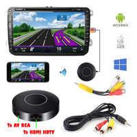 Auto Auto Media DLNA Miracast Airplay Mirroring Dello Schermo Dongle TV Stick Digital Wireless HDMI AV RCA Uscita Video Streamer Display