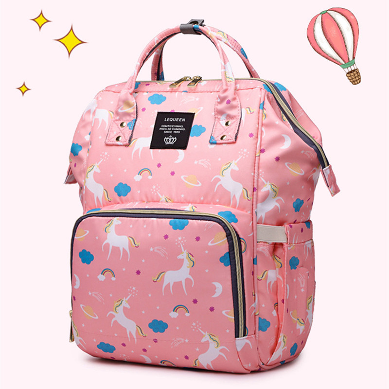 Baby Diaper Bag Unicorn Mummy Maternity Diaper Bag Backpack Large Capacity Nappy Changing Baby Bags For Mom Bolsa Maternidade