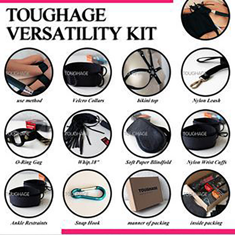 ФОТО TOUGHAGE 10 pieces Pack  Multifunction Sex Bandage Set, Sex Toys, Flirting Products  For Adult Games