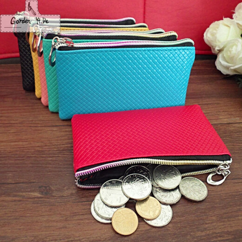 Multifunction PU Leather Coin Purses 2018 New Mini zipper coin wallets Unisex Small coin pouch female purse phone bag PT0074