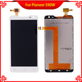 5PCS/Lot LCD Display Touch Panel For Pioneer S90W S90 90 Touch Screen White Color For Prestigio PAP 5044 Mobile Phone LCDs