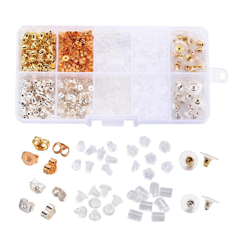 Jewelry Findings Sets, Earnuts Sets, Mixed Color, 3~5x2.5 ...