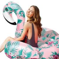 YUYU Pattern inflatable Flamingo Swimming Float Tube Raft Adult pattern flamingo pool float Swim Ring Summer Water Fun Pool Toys