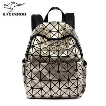 47990d330011 Badenroo Для женщин маленький рюкзак алмазов решетки женские кожаные  геометрический школьные сумки прилив рюкзак для девочек-подростков Mochila