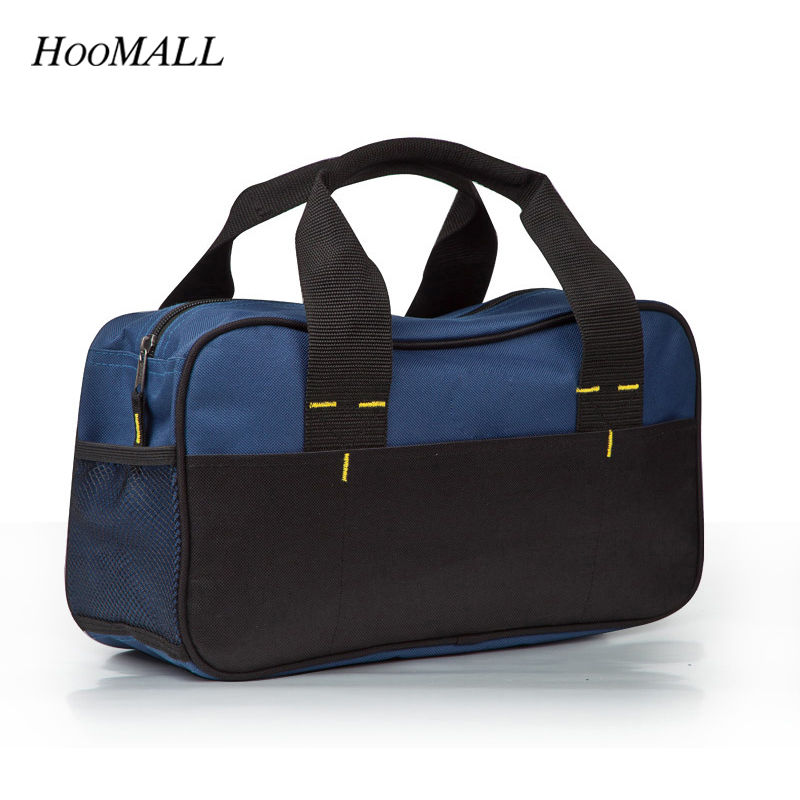 Hoomall Tool Kit Pack Hardware Repair Kit Tool Bag Electrician Work Multifunction Durable Mechanics Canvas Pouch Organizer Bag canvas kit multifunction waist bag electrician repair water resistant pockets tool bag