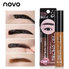 New Brand Natural tint my brows 3 colors gel eyebrow for eyes brow tint peel off  eye brow kit with soft eye brow brush makeup