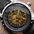 Marca de lujo Jaragar hombres reloj mecánico automático de la mano del viento reloj de hombre Photochromic cristal relogio masculino envío gratis Q51