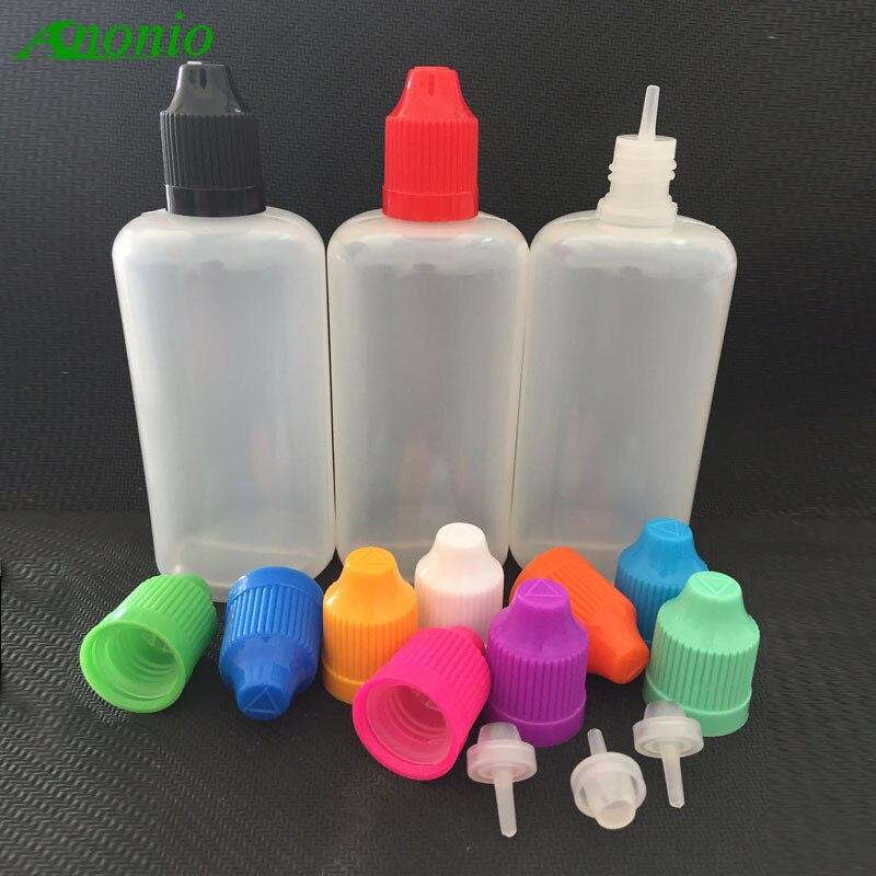 Wholesale 100pcs Empty Clear PE 50ML Plastic Bottles Eye drop Bottle E Liquid bottle 50ml Dropper