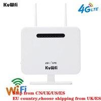 KuWFi Unlocked 4G LTE CPE Wifi Router 300Mbps Wireless Router&Wireless Modem AP LTE Router With SIM Card Solt 5Dbi Antennas