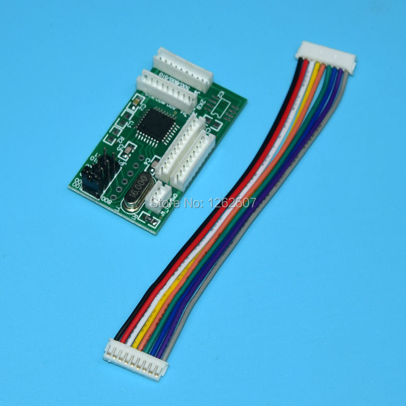 все цены на Compatible printer chip decoder card board for hp 100 110 120 111 130 30 70 90 500 800 510 for hp designjet 500 800 500ps 800ps онлайн
