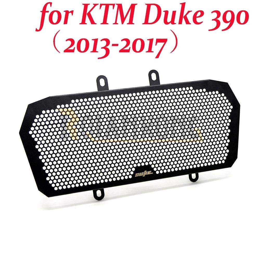 For KTM Duke 390 Motorcycle Aluminum Radiator Grill Guard Cover (2013 2014 2015 2016 2017) for ktm 390 duke motorcycle leather pillon passenger rear seat black color
