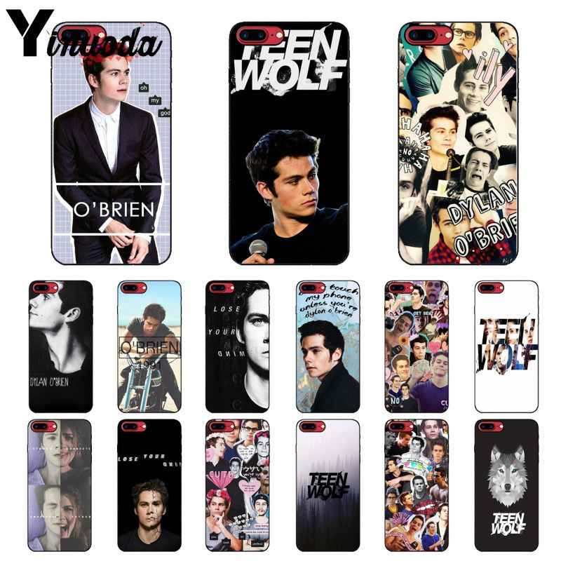 Yinuoda Dylan O'Brien Teen Wolf Newly Arrived Black Cell Phone Case for iPhone 8 7 6 6S Plus 5 5S SE XR X XS MAX Coque Shell
