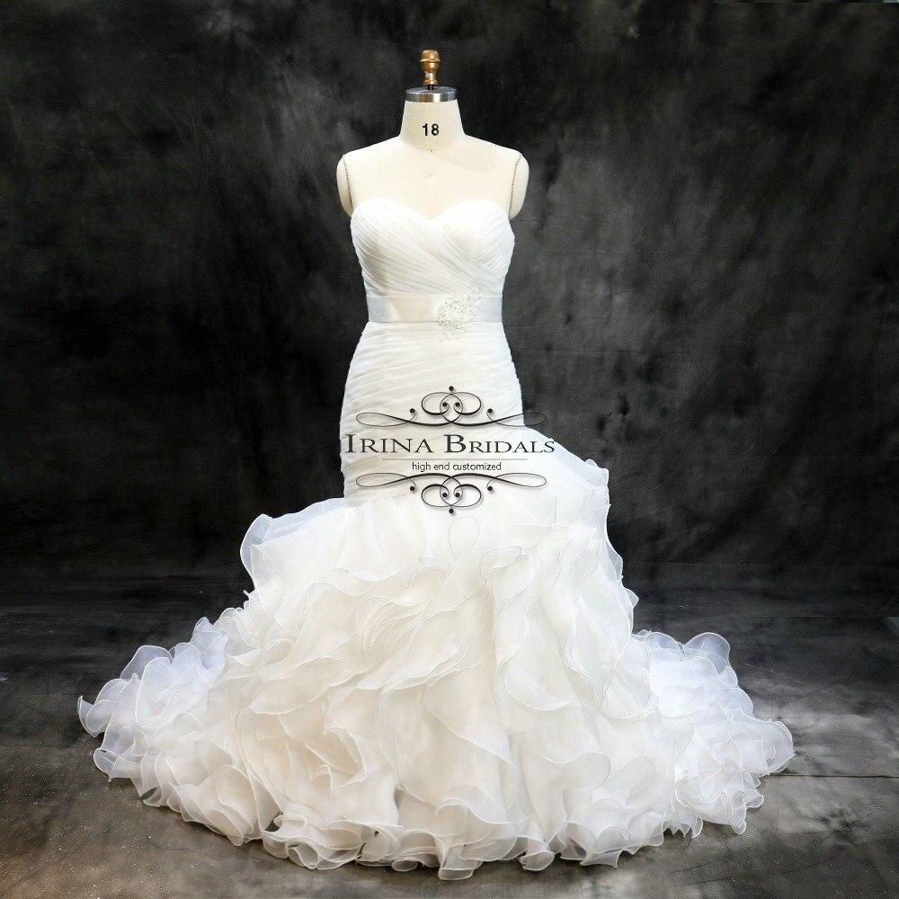 Vestidos de novia sencillos de organza