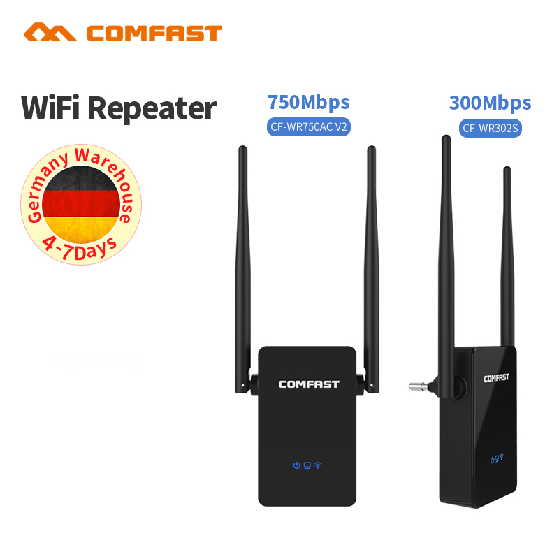 Comfast Dual Band 300-750 Mbps WiFi Repeater Wireless Range Extender Wi-Fi Signal Amplifier Expander Wireless WiFi Router