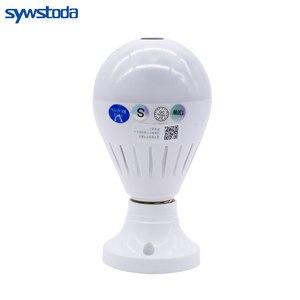 Image 2 - Led ライト 960 720p ワイヤレスパノラマホームセキュリティ無線 Lan Cctv 電球ランプ IP カメラ 360 度ナイトビジョン