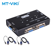 MT-VIKI 4 Port Handbuch VGA KVM Switch 4hosts share one monitor and set of mouse keyboard with 4pcs cable MT-460KL