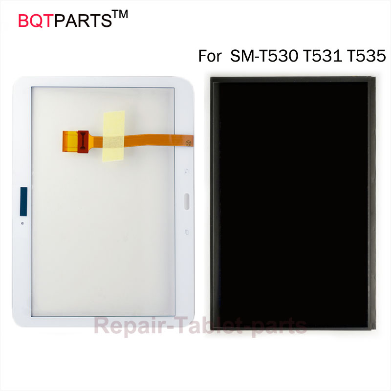 BQT Touch Screen Glass For Samsung Galaxy Tab 4 10.1 inch T530 T531 T535 New LCD Display Panel Screen Monitor Repair for samsung galaxy tab 4 10 1 sm t530 t531 t535 t530 touch screen digitizer lcd glass front panel 1 piece free shipping