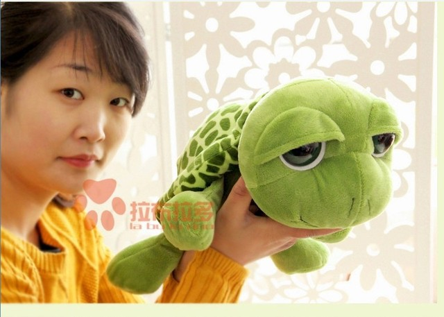 stuffed animal cute tortoise plush toy 40cm green turtle with big eyes doll about 15 inch toy p0082