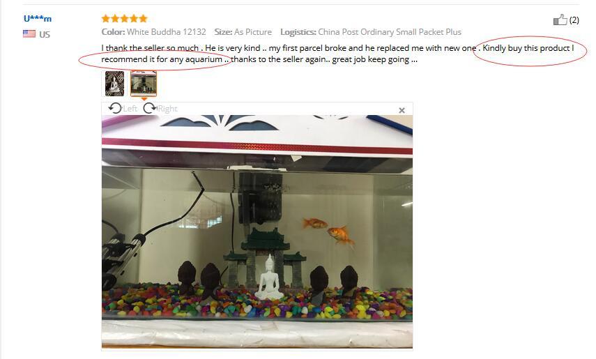 the statue is suitable for aquarium