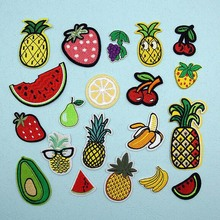 Cute Fabric Embroidered Fruit Patch For Clothes Stickers Bag Sew Iron On Applique DIY Apparel Sewing Clothing Accessories BU15 цена