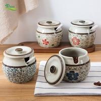 Ceramic Spice Jar Kitchen MSG Spice Jar Household Spice Box Seasoning Jar Seasoning Box Sauce Bottle