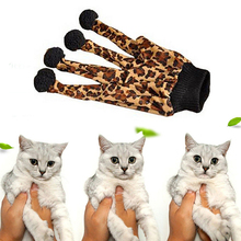 1pcs lovely Pet Funny Ball Toy Cute Brown Cat Pet Scratch Glove Toys Leopard Style Gloves Toy Brown Color S2