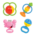 6pcs/Set Kids Colorful Rattles Hand Shake Bell Ring Early Learning Educational Fun Toys for Newborn Development 0-12 Months