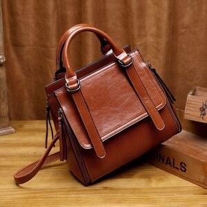 Image 4 - LUYO Bolso de piel auténtica de marca de lujo para mujer, bandolera de diseñador, bolso de hombro