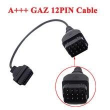Car-Diagnostic-Tool Adapter OBD2 12-Pin Cable 16pin Female OBDII DLC GAZ Quality-Converter