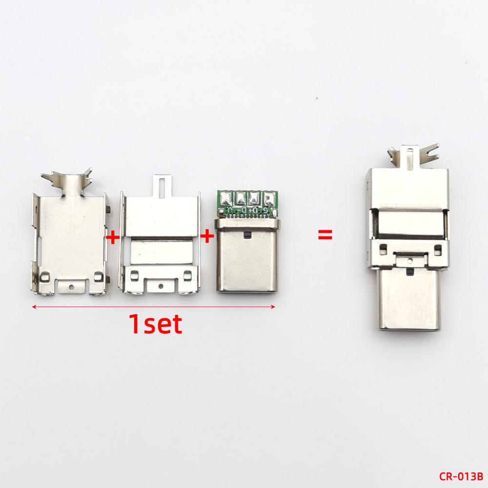 5A High Current Universal Type c Mal Plug VOOC Flash Connector FOR OPPO Data Line DIY Charging Plug Fittings Connection Adapter in Connectors from Lights Lighting