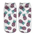 Harajuku Calcetines Calcetines de Impresión de frutas de piña de color 3d Impresión Digital Mujeres Hombres Divertidos Calcetines de Tobillo