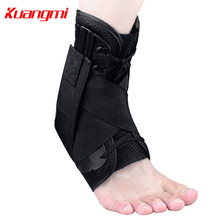 Kuangmi 1 PC Ankle Support Basketball Sports Protector Ankle Brace Adjustable Cross Bandage Foot stability Pain Relief nakefit