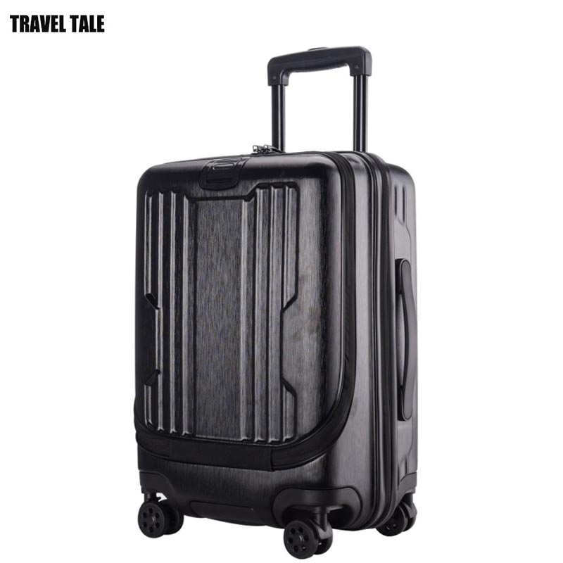 TRAVEL TALE 20 inch spinner laptop carry on trolley pocket luggage cabin suitcase with wheels
