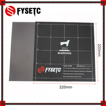 220x220mm New Fles Magnetik Heatbed Build Surface Plate Sheet 2 in 1 with 3M Adhesive Backing For Wanhao i3 Anet A8 A6