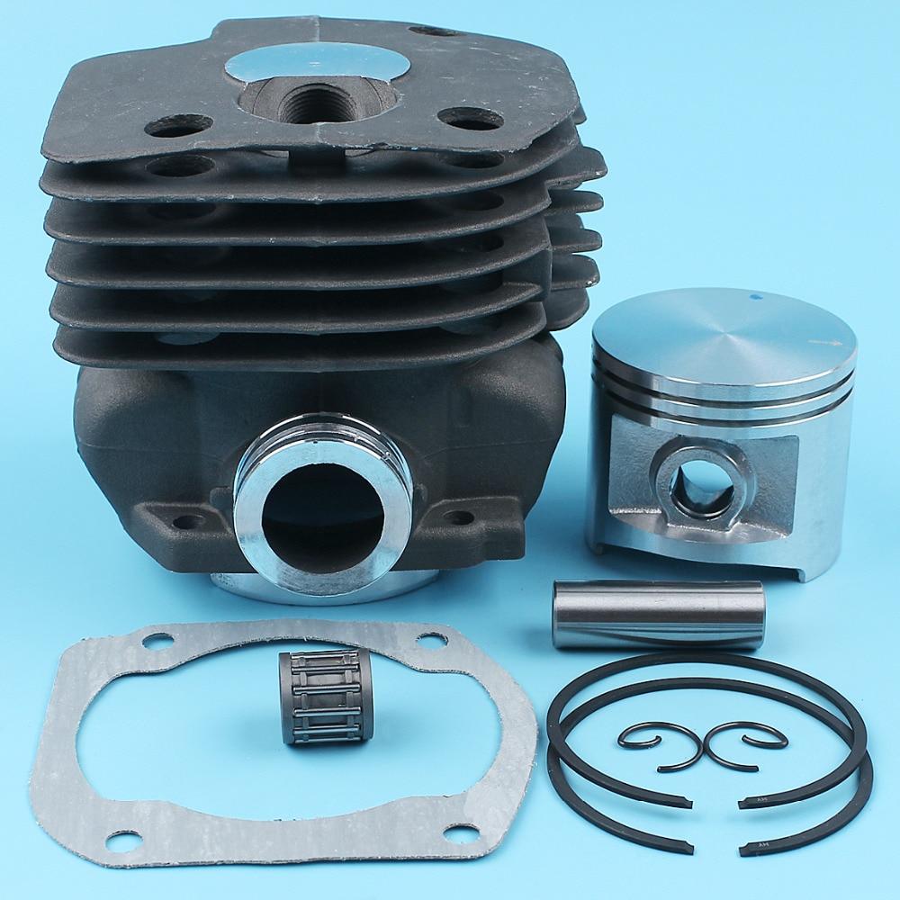 купить 50mm NIKASIL PLATED Cylinder Piston Kit For Husqvarna 362 365 371 372 Chainsaw #503939372 Rings Pin/Finger Circlips NEW Parts по цене 2990.53 рублей