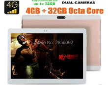 2017 Nueva 10 pulgadas 4G LTE Tablets Android 6.0 Octa Core RAM 4 GB ROM 64 GB Dual Tarjetas SIM 1920*1200 IPS HD de 10.1 pulgadas Tablet pc + Regalo