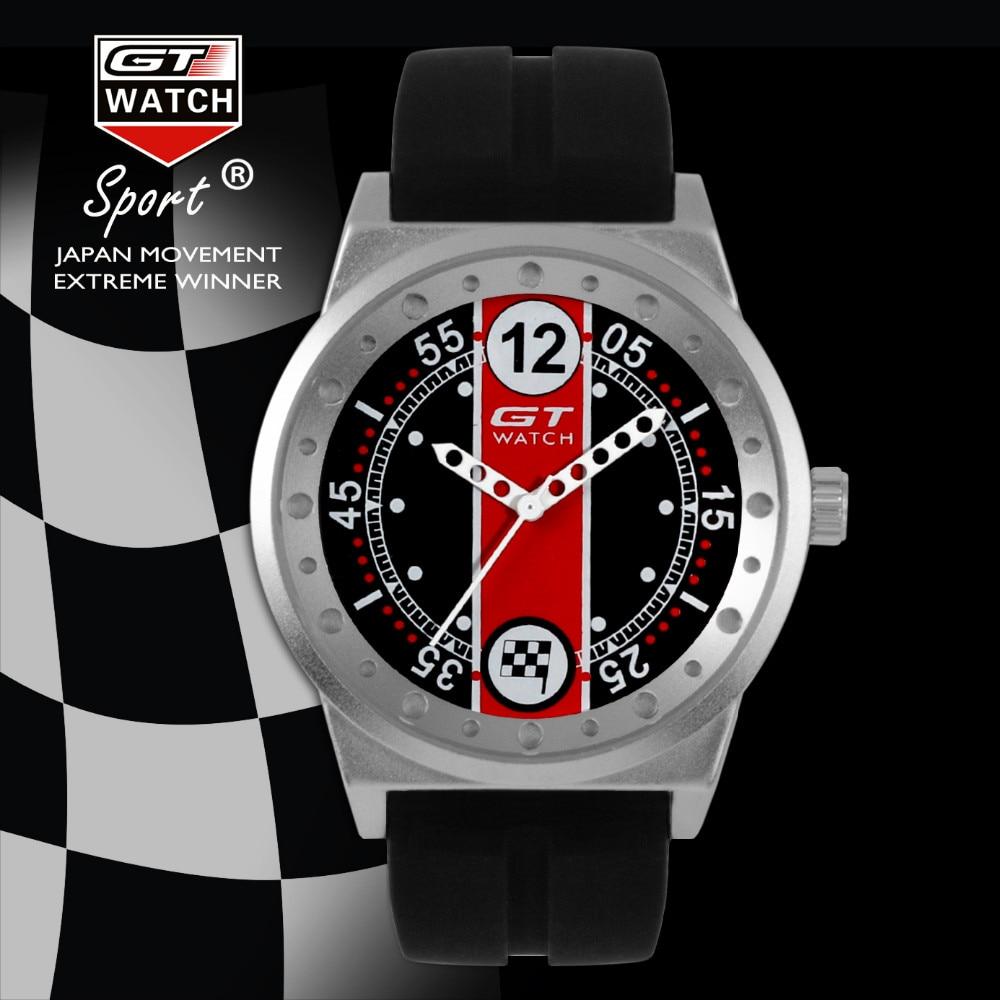 Fashion GT WATCH Men Silicone Strap Quartz Watch F1 Race Men's Military Sports Outdoor Unisex Dress Bracelet Wristwatch 2016 New