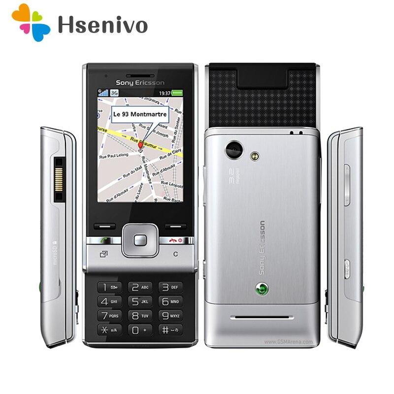 T715 100% Original Unlokced Sony Ericsson T715i Mobile Phone 2G Bluetooth 3.2 MP Camera FM Unlocked Cell Phone Free Shipping