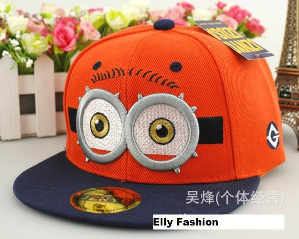 62d328b06a0 Despicable Me Minions hats Kids baseball caps adorable eyes Children Big  Eyes 3D Cartoon parent off Child Adjustable Hat-in Baseball Caps from  Apparel ...