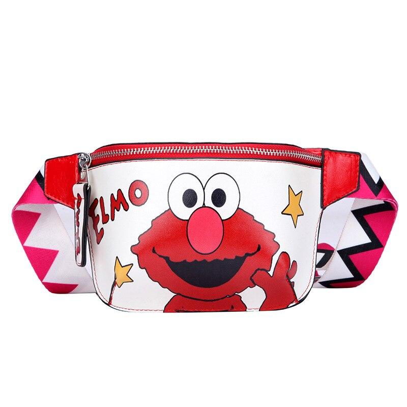 Women Belt Bag Cartoon Waist Bags Handy Banana Fanny Pack Belt For Children Cookie Elmo Monster Girl Hip Bum Bag Lady Chest Bags