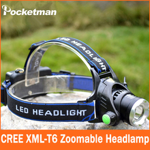 CREE T6 LED Water Resistant Headlight Headlamp Powered Head Lamp Torch LED Flashlights Biking Fishing Torch for 18650 ZK94