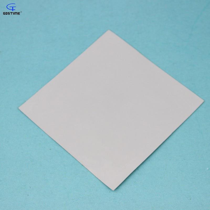 2 pcs Gdstime 100mm x 100mm x 1.0mm Laptop GPU CPU Heatsink Cooling Thermal Conductive Silicone Pad 100x100x1mm Gray White