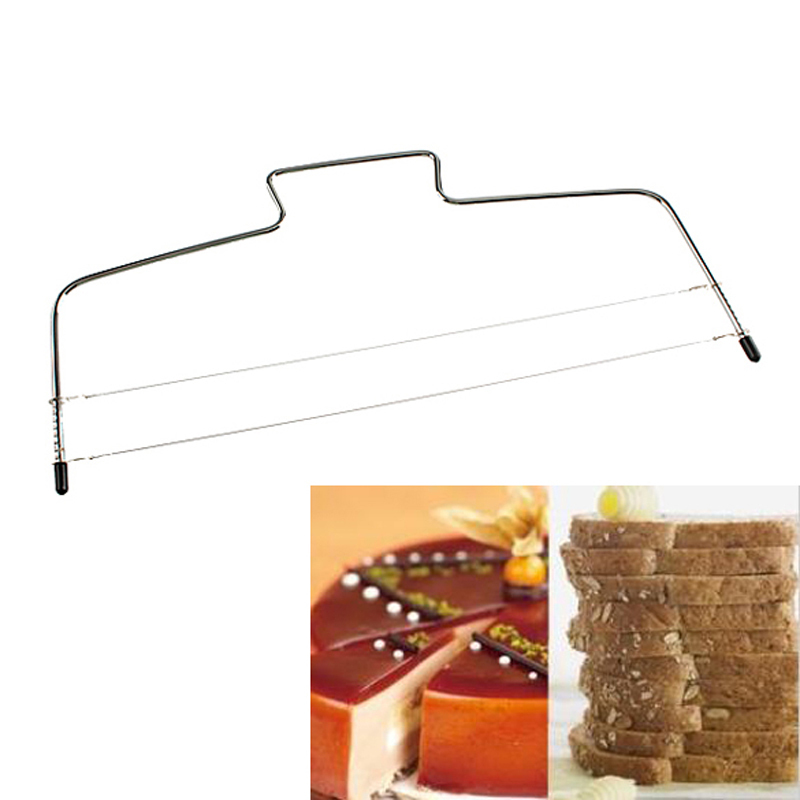 Baking Pastry Tools Adjustable Wire Cake Slicer Leveler Stainless Steel Slice for Layer Cakes Best Price
