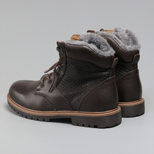 Hecrafted Winter Snow Boots Super Warm Size 35~48 Genuine Natural Leather Handmade Men Winter Shoes #BG1570