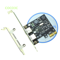 Free Shipping Chip NEC720202 SuperSpeed 5Gbps 2 Ports USB 3 0 PCI Express Card PCIe With