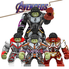 Avengers 4 EndGame Big Size Legoed Marvel Hulk Infinity Gauntl Minifigured Building Blocks Action Figures Children Gift Toys